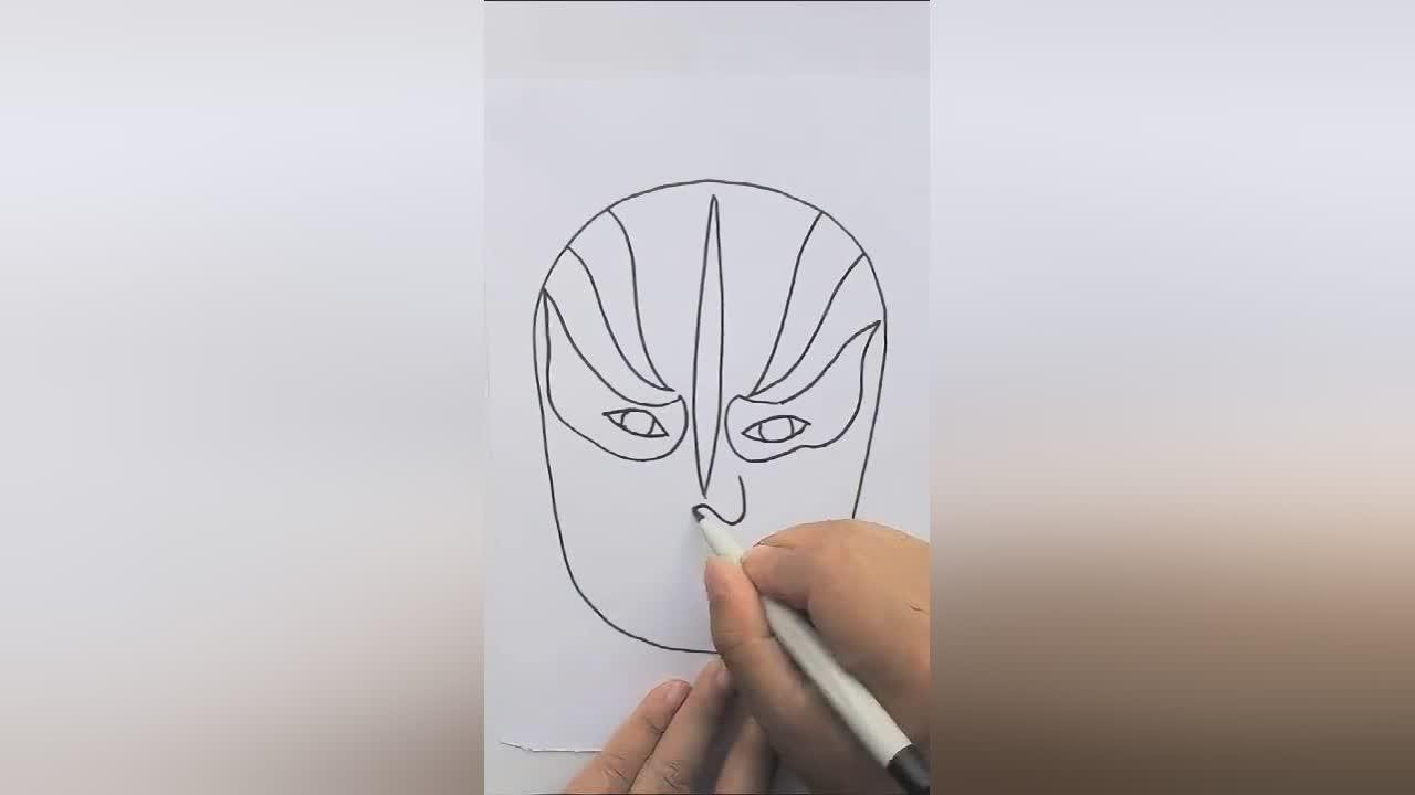简单易学的脸谱简笔画,轻轻松松教给孩子