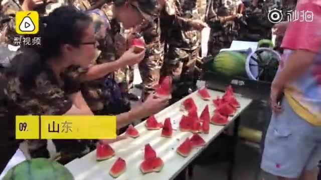 中国好学长!买2千斤西瓜送军训新生
